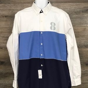 NEW Brooks Brothers Color Block Long Sleeve Shirt